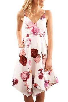 a7af5cb8fce05 Buy Pink Floral Print Asymmetric Summer Swing Dress - Small for R520.79  Jeans Dress