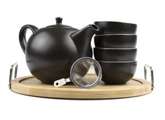 Mountain Rose Herbs: Ceramic Teapot Set with Tray