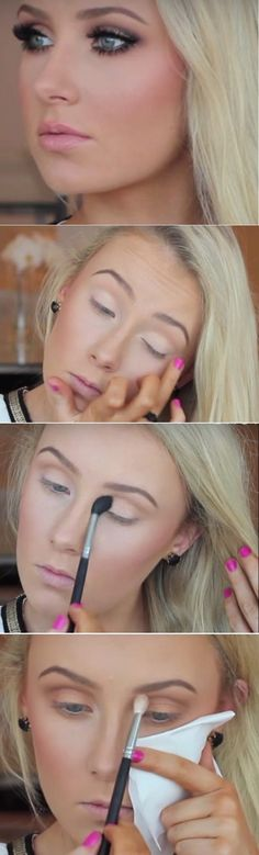 Makeup Tutorials for Blue Eyes -Ultimate Bronze Smokey Eye Tutorial -Easy Step By Step Beginners Guide for Natural Simple Looks, Looks With Blonde Hair Colour and Fair Skin, Smokey Looks and Looks for Prom