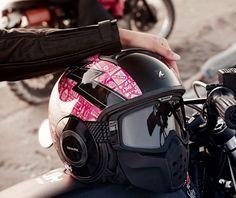 Pink Shark Raw Helmet.