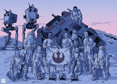 Laurie Greasley – Star Wars : The Fall of Hoth – Geek Art – Art, Design, Illustration & Pop Culture ! Star Wars Clones, Star Wars Rpg, Star Wars Ships, Star Wars Rebels, Star Wars Clone Wars, Star Trek, Images Star Wars, Star Wars Pictures, Star Wars Concept Art
