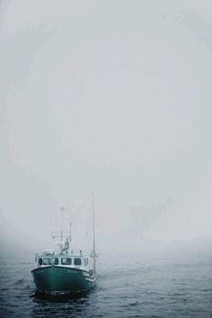 #sea #lighthouse #fog