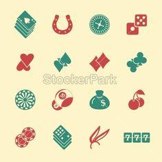 Casino Gambling Icons - Color Series   EPS10   Vector   StockerPark