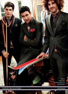Tommy Hilfiger Campaign FW 2011-12 - Sam Way, Noah mills, Max Rogers, Jacquelyn Jablonski, Iselin Steiro and more by Craig McDean