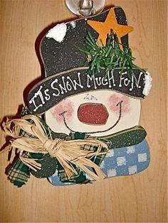 Pinterest+Snowman+Crafts | Snow much fun snowman wood craft