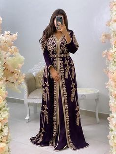 Party Dresses With Sleeves, Long Sleeve Evening Dresses, Nice Dresses, Prom Dresses, Wedding Dresses, Dress Robes, Caftan Dress, Dress Outfits, Fashion Dresses