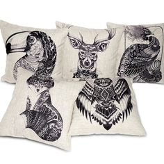 Creative Totem Pillow Cover hand drawn style Home Cotton Linen Pillow Cushions,Decorative Pillow,Throw Pillow,Sofa Cushion Cover-in Cushion from Home & Garden on Aliexpress.com | Alibaba Group