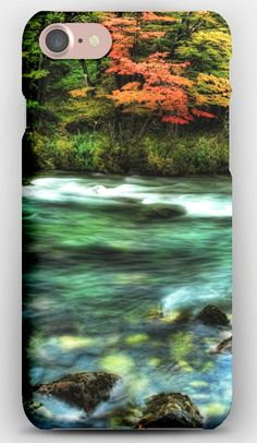iPhone 7 Case River, Wood, Stream, Colors, Stones, Moss, Transparent, Water