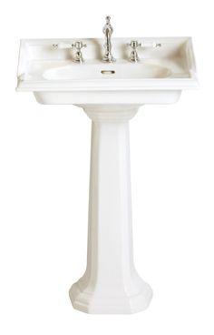 Dorchester White Square Basin 2 tap | Pottery | Heritage 625mm x 490mm £295