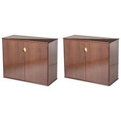 Pair of Cabinets by Luigi Caccia Dominioni for Azucena | From a unique collection of antique and modern cabinets at https://www.1stdibs.com/furniture/storage-case-pieces/cabinets/