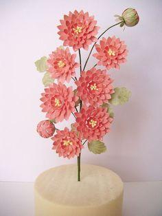 Dahlia Dahlia, Origami, Art Floral, Paper Flowers, Paper Art, 3d, Inspiration, Giant Flowers, Spring