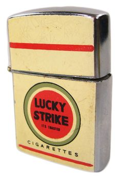 Vintage 60's Lucky Strike lighter. Dad use to smoke that brand back then. No one knew how bad they were