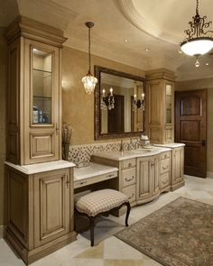 Custom Bathroom Vanities With Makeup Area master bathroom vanity. because i can't sit on the bathroom