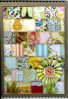 Paper Quilt by Michaela Laurie Amish style paper quilt greeting card Art Journal Inspiration, Journal Ideas, Paper Quilt, Paper Cards, Junk Journal, Altered Art, Scrap, Greeting Cards, Clipboards