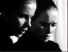 """Bergman said that Persona was """"the first time I did not care in the least whether the result would be a commercial success. Persona Ingmar Bergman, Persona 1966, Bergman Film, Best Black, Black And White, Film Reels, Film Stills, Movie Quotes, Photoshoot"""
