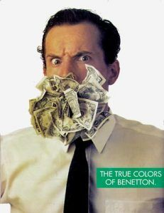 United Colors of Benetton Benetton, Make Money Today, How To Make Money, United Colors Of Benneton, Culture Jamming, Vintage Advertisements, Ads, Gluten Free Pastry, Seven Deadly Sins