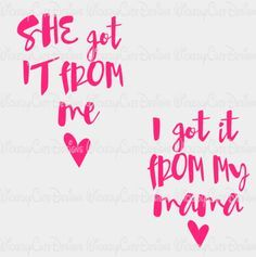From Mama From Me SVG, DXF, EPS, PNG Digital File – Wickedly Cute Designs