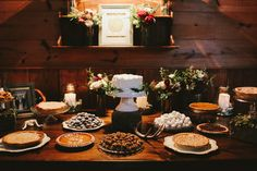 hipster diy wedding desserts, swann lake stables, w & e photographie