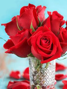 Wilted roses may be brought back to life by sticking the ends of their stems into boiling water for about 30 seconds. Then, cut the end of the stems off and place the roses in cool water.