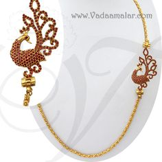 Ruby studded side pendant jewellery