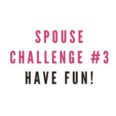 """It's day 3 of our """"love your spouse"""" challenge!! . Isn't it so easy to get…"""