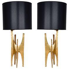 Pair of Brutalist Lamps | 1stdibs.com