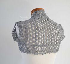 941. Silver crochet shrug | Flickr - Fotosharing!