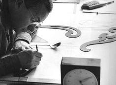1959, Max Bill bei der Arbeit im Atelier (via @junghans.de)
