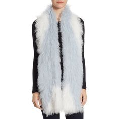 The Fur Salon Knit Lamb Fur Scarf ($425) ❤ liked on Polyvore featuring accessories, scarves, the fur salon, knit shawl, fur scarves, fur shawl and knit scarves