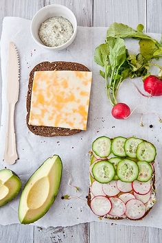 Veggie Crunch Sandwich - Just a picture, no recipe.  looks yummy!