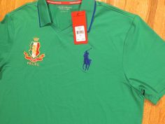 POLO RALPH LAUREN  MENS  PERFORMANCE BIG PONY  ITALIA SPORT POLO SHIRT LARGE NEW #PoloRalphLauren #PoloRugby