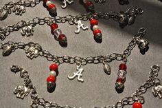 ALABAMA Crimson Tide football charm bracelet by NightWalkerDesigns, $13.00