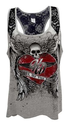 Harley-Davidson Womens Tank Top, Embellished Soul Of The Road