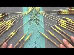 Preparing bobbins for lace making / Preparar bolillos para encaje / Klöppel wickeln - YouTube