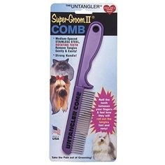Prestige Pet Untangler Super Groom II Comb (Assorted Colors) >>> You can find out more details at the link of the image.
