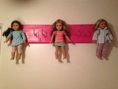 American Girl Doll Wall Hanger! Super Easy And Way Cheaper Than The AG  Store Ones