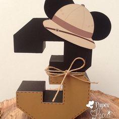 Número 3D #mickeysafari #festamickeysafari…