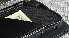 iPhone 6 Wallet Case Black Nylon / Leather iPhone Wallet by HUSKK