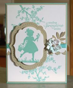 Springtime is Here: I made this card using one of my favorite stamp sets Easter Blossoms from Stampin' Up