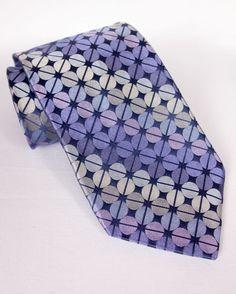 "TED BAKER Mens Silk Tie 3.5"" x 59.5"" Pink Blue Striped Print Hand Tailored #TedBaker #NeckTie"