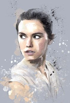 akersdigitalart:  Artwork of Rey ( Daisy Ridley ) Star Wars: The Force Awakens Art of Akers