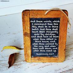 Bible Verses Kjv, Deuteronomy 6, Letter Board, Teaching, Words, Children, Young Children, Boys, Kids