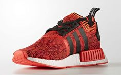 002650a91 Adidas NMD Red Apple 2.0 Release Date Medial CQ1865 Adidas Nmd R1 Primeknit