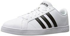 adidas NEO Men's Baseline Fashion Sneaker, White/Black/White, 10 M US