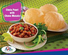Great combination forever. Chola Poori with Chana Masala  #AdyarAnandaBhavan #Chola #Poori #Chana #Masala