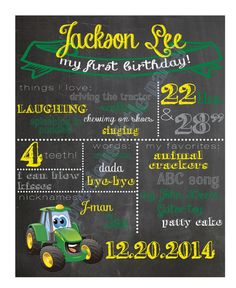 Johnny Tractor 1st Birthday Standard Party Pack | Kids Birthday ...