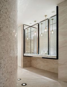 Four Seasons Hotel Bathroom Elegant Design Firm Yabu Pushelberg Has Pleted the Interiors for Restroom Design, Bathroom Interior Design, Bathroom Designs, Interior Modern, Kitchen Interior, Interior Decorating, Bad Inspiration, Bathroom Inspiration, Couleur Feng Shui
