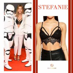 Stefanie Giesinger in einem sexy Bustier-Top! Bustiers, Bustier Top, Tops, Polyvore, Image, Style, Fashion, Animales, Swag