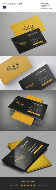 Modern Business Card Template | Download: http://graphicriver.net/item/modern-business-card-vol-1/10318133?ref=ksioks