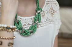 braided rope necklace - Google Search